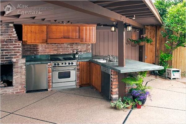 Как построить летнюю кухню своими руками - варианты обустройства летней кухни