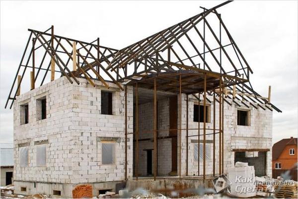 Как построить дом из пенобетона - как строить дом